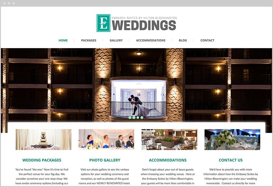 Embassy Weddings on Desktop