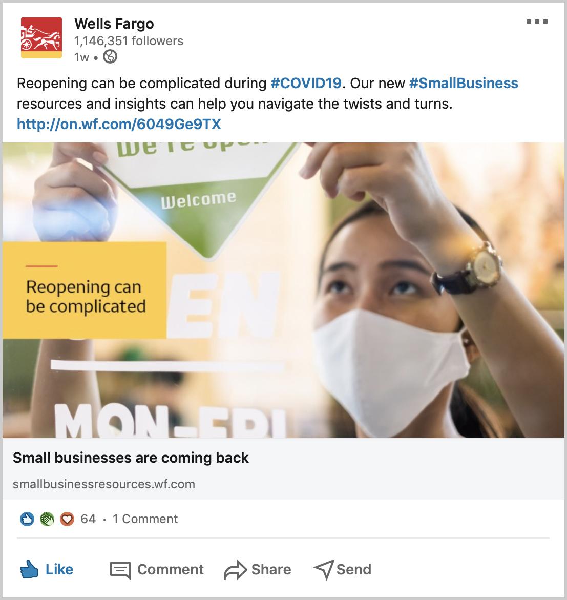 Small Business LinkedIn Post